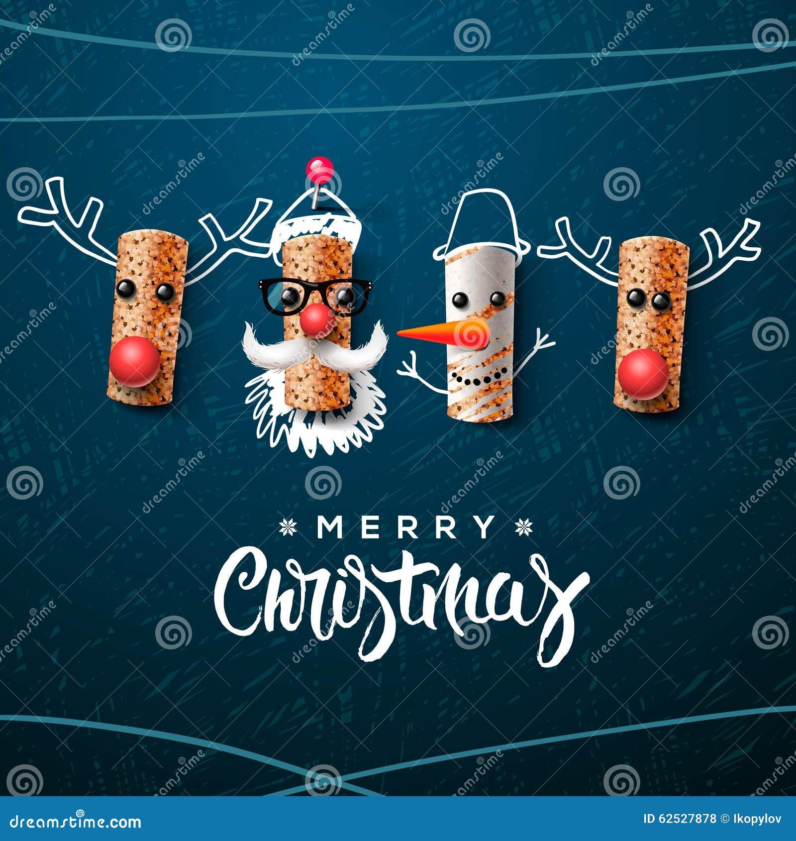 圣诞节字符,圣诞老人雪人,驯鹿