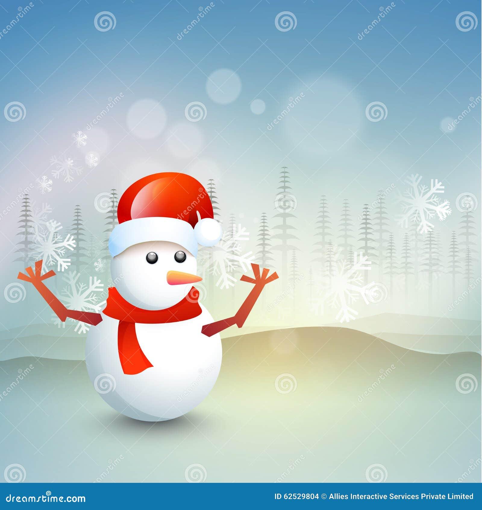 圣诞节庆祝的逗人喜爱的雪人