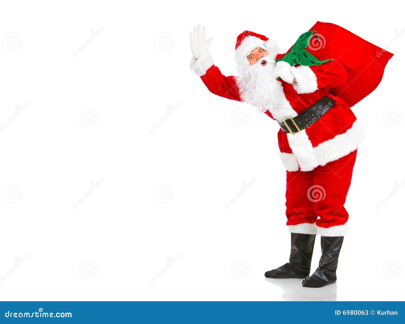 圣诞节愉快的圣诞老人