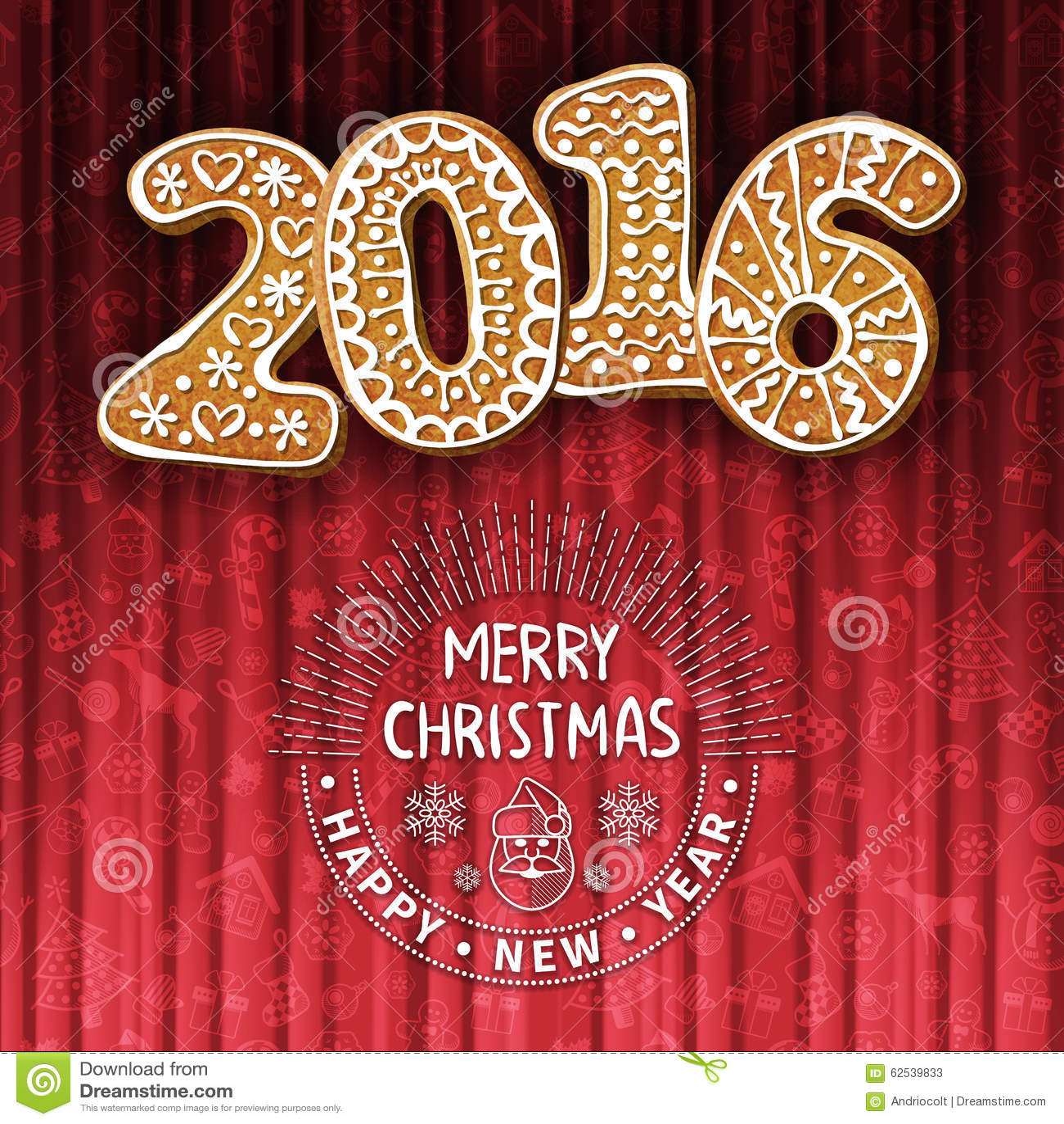 圣诞节或新年度贺卡