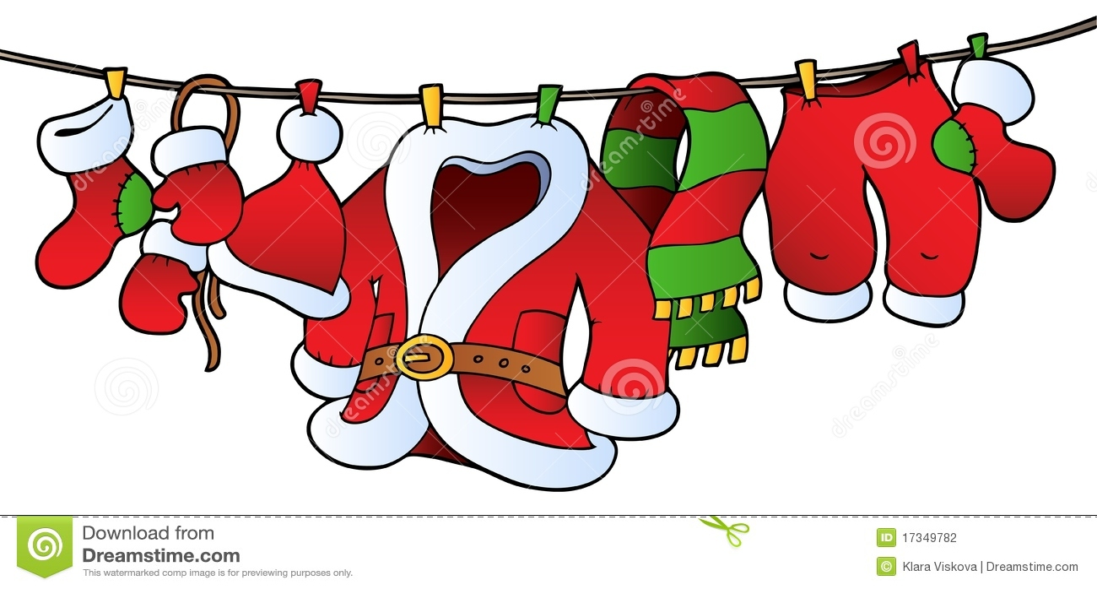 圣诞节晒衣绳服装
