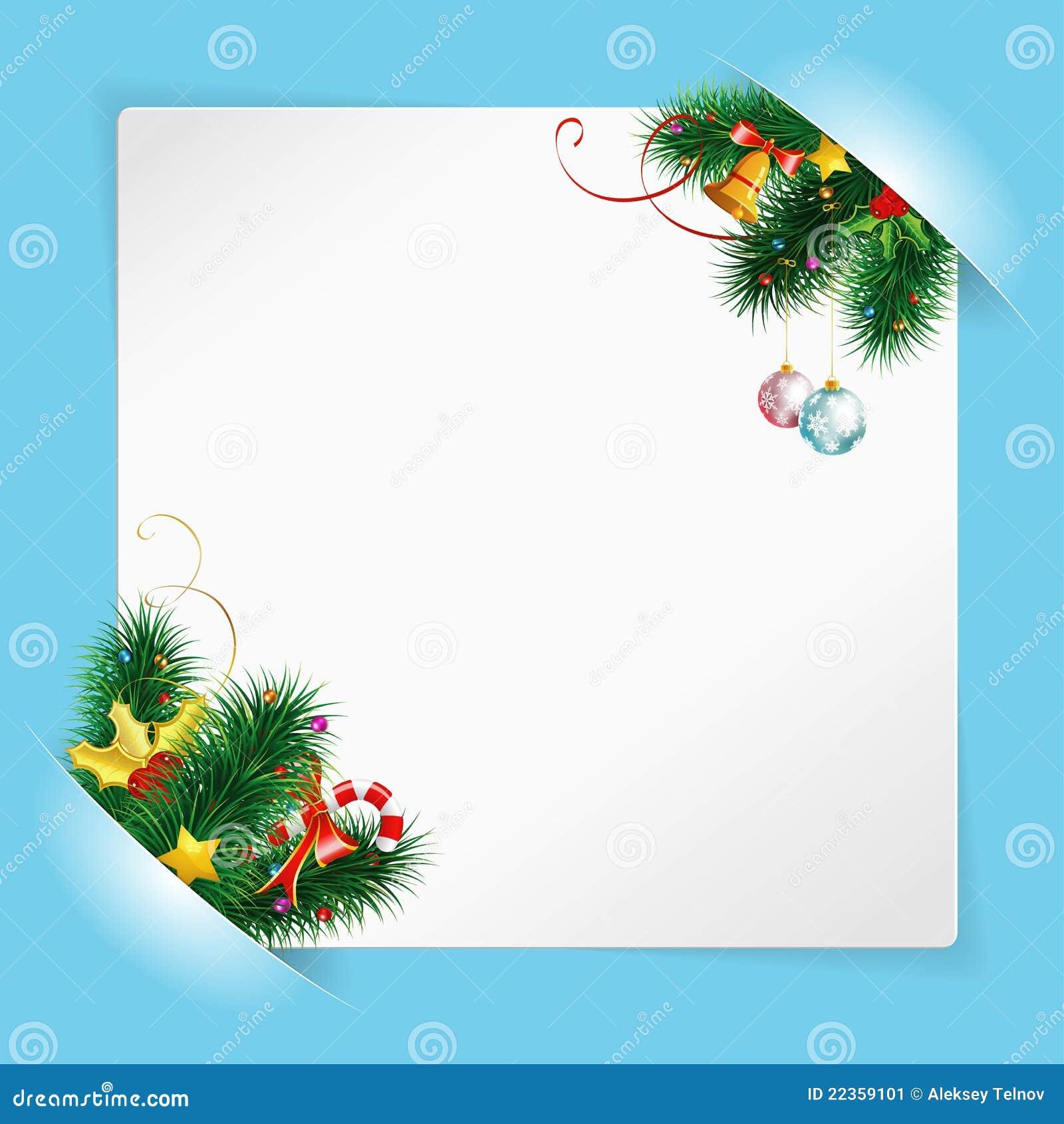 圣诞节框架纸张页白色