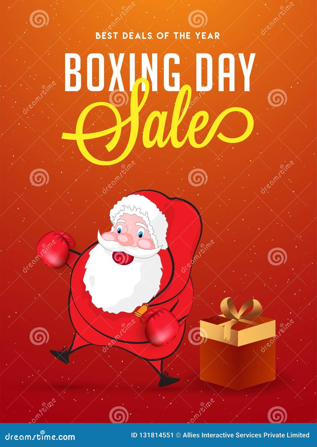 圣诞节次日销售横幅或海报设计,战斗机的例证