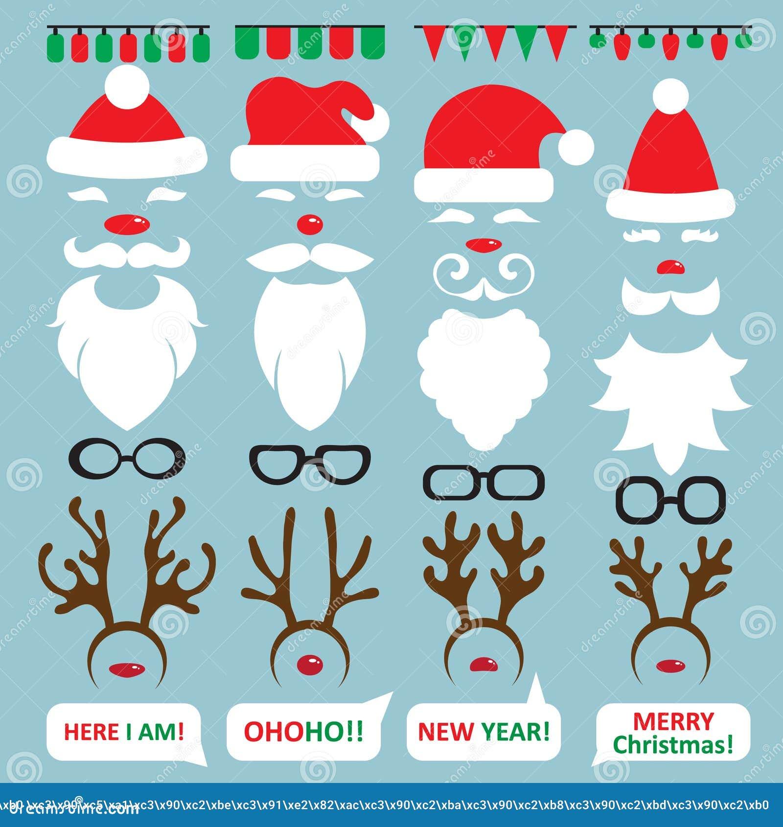 圣诞节照片摊和scrapbooking的传染媒介集合