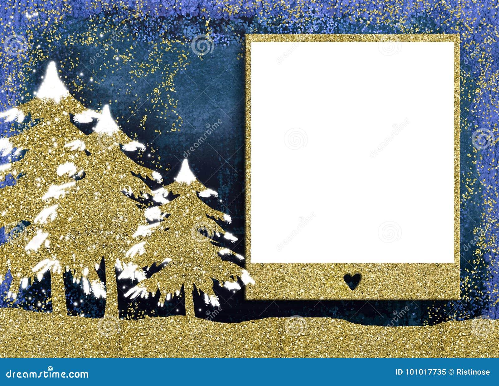 圣诞节照片框架卡片