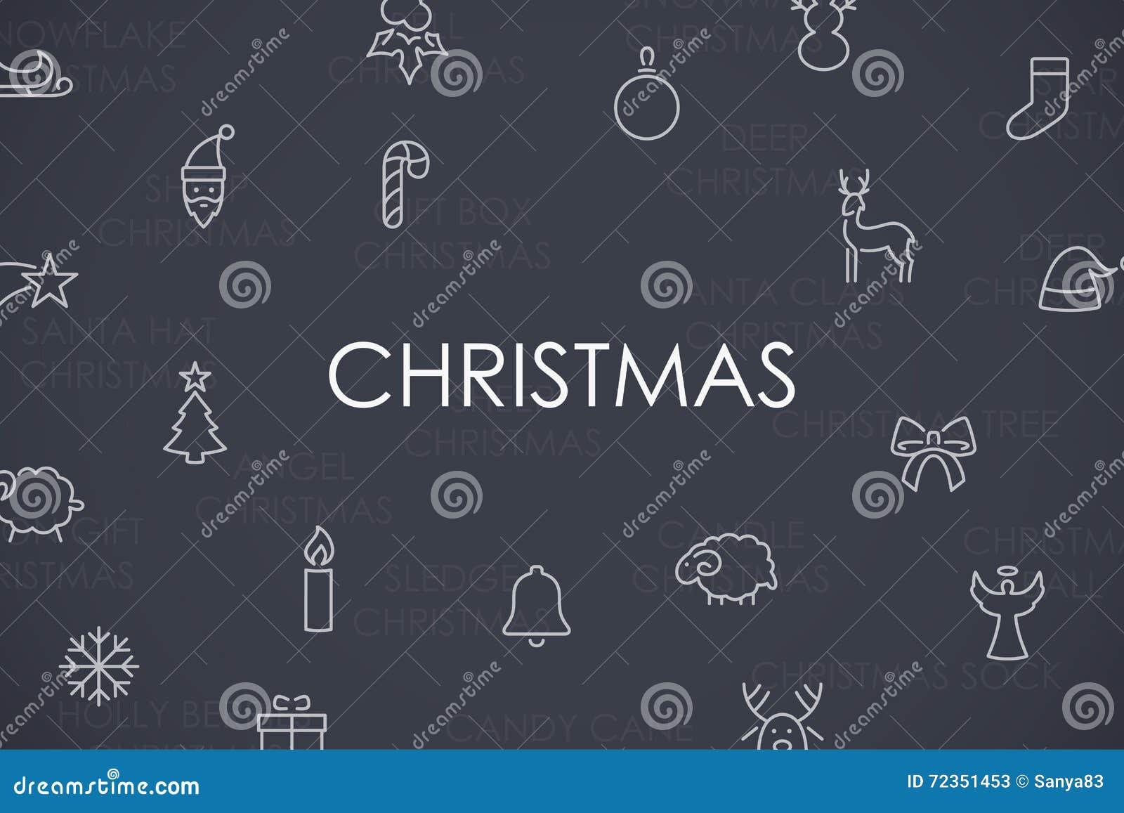 圣诞节稀薄的线象