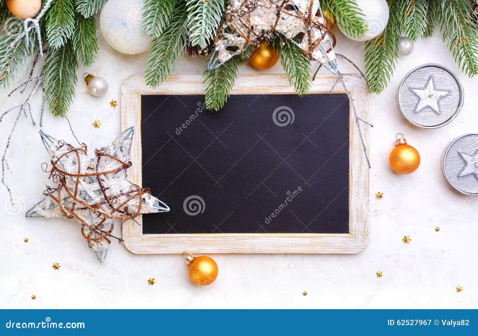 圣诞节背景和黑板