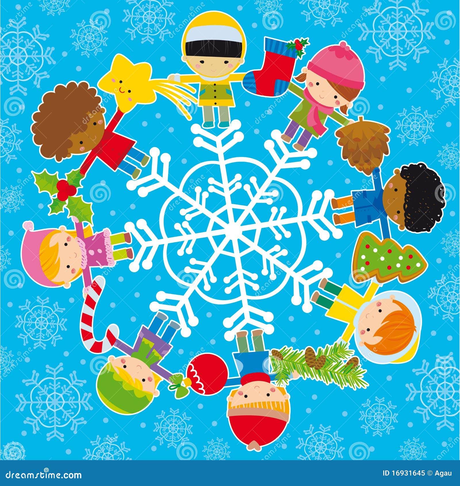 圣诞节要素孩子