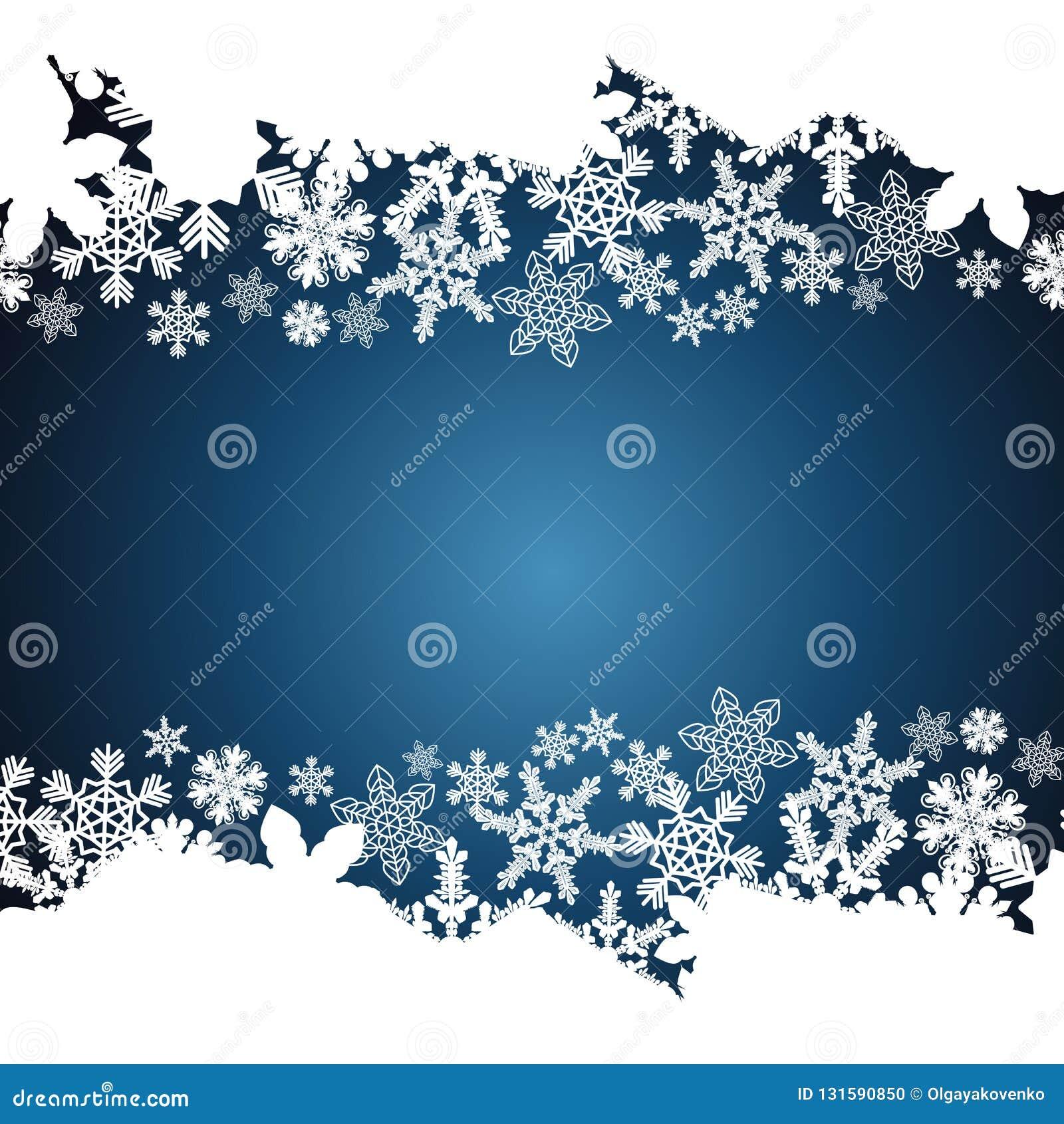圣诞节边界,雪花设计背景