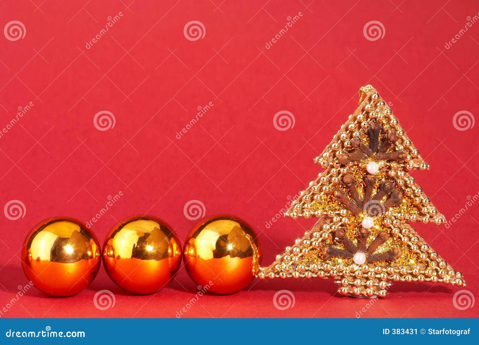 圣诞节金黄goldener mit成珠状结构树weihnachtsbaum