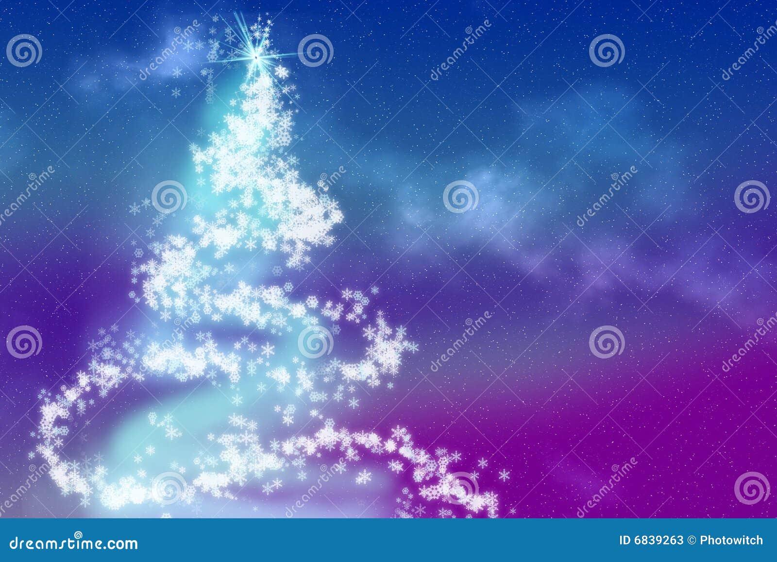 圣诞节雪花结构树