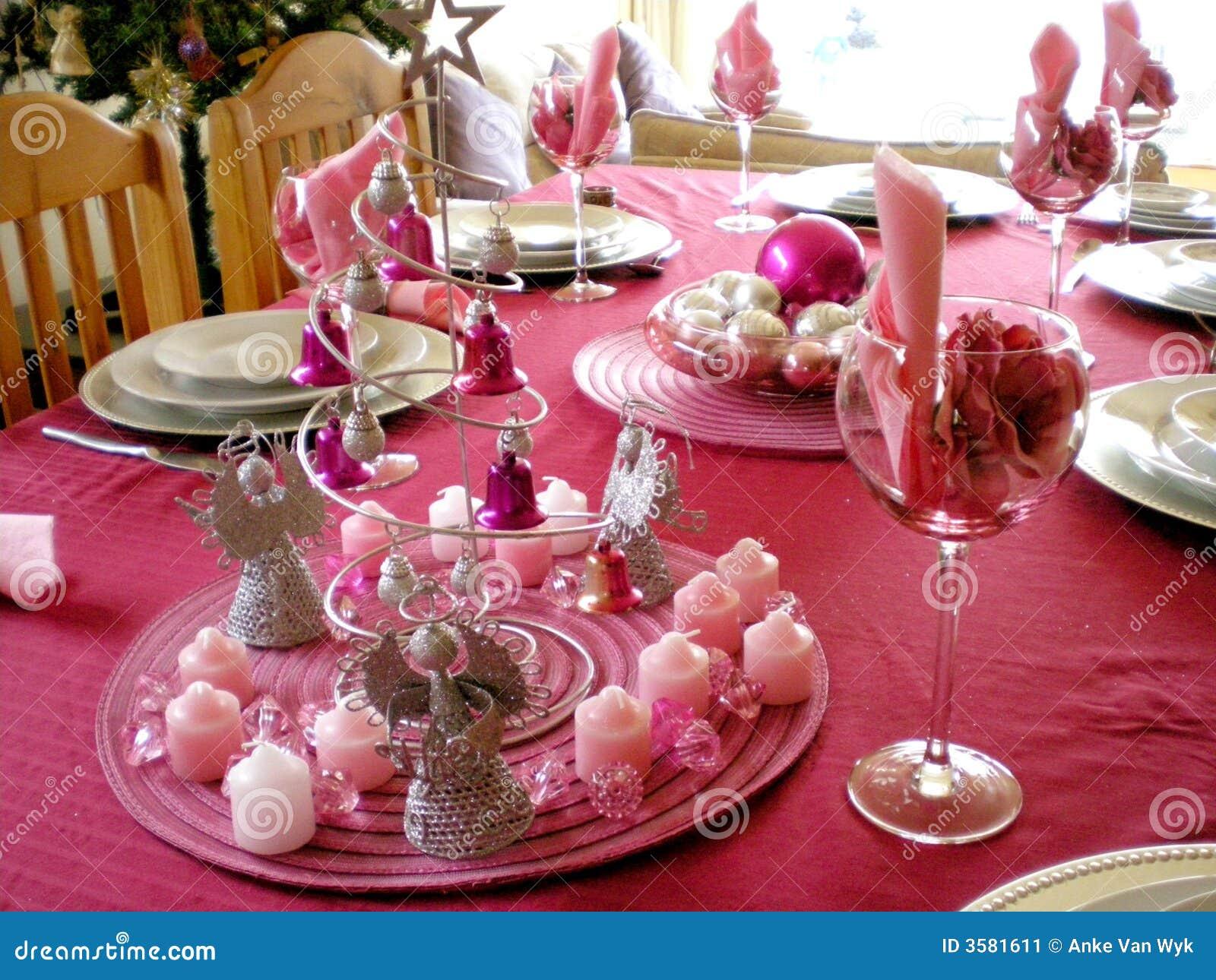 圣诞节饭桌