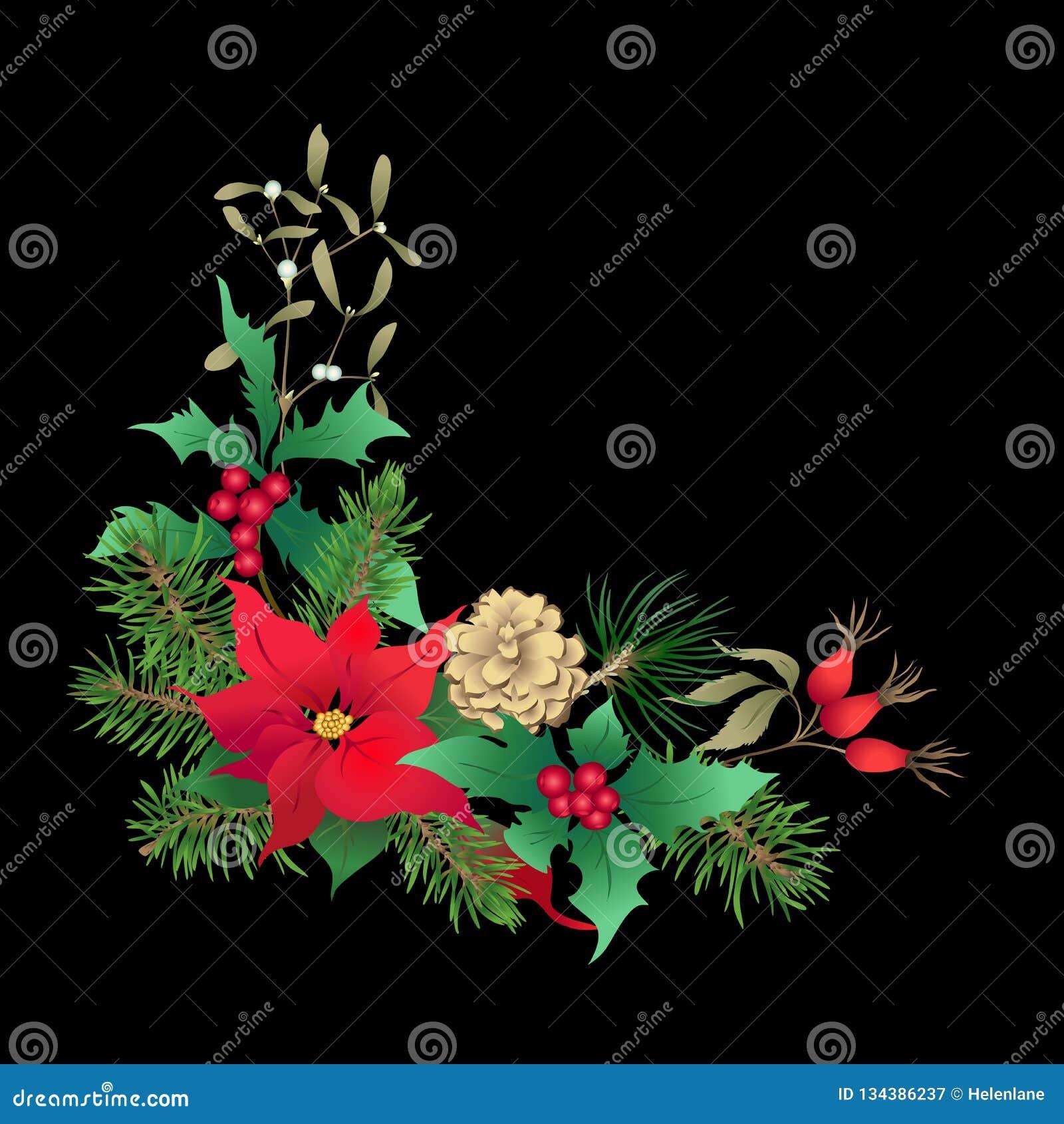 圣诞装饰,花圈由冷杉分支做成