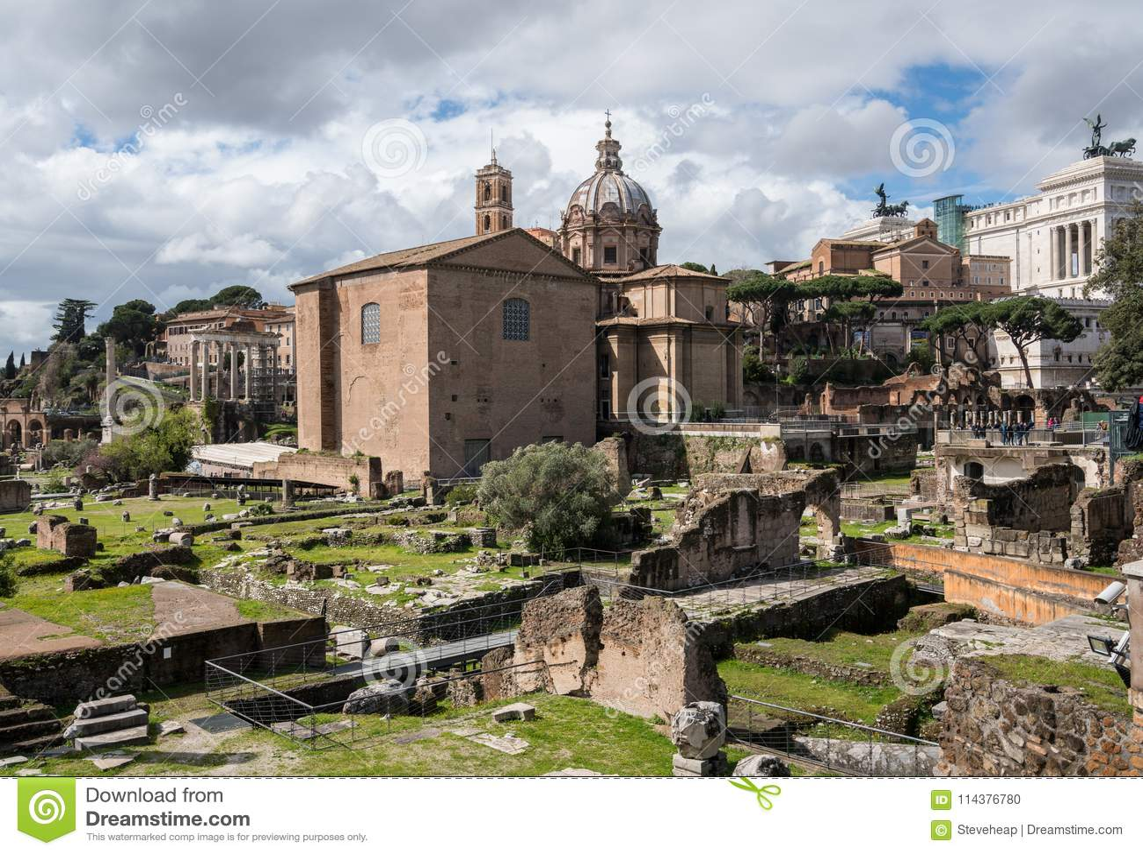 圣路卡和圣马丁纳角教会在罗马