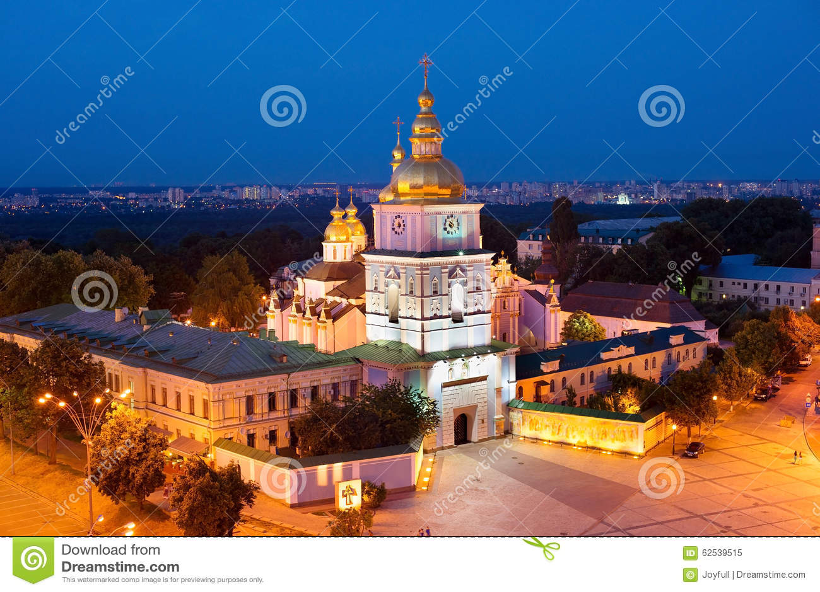 圣迈克尔的修道院鸟瞰图