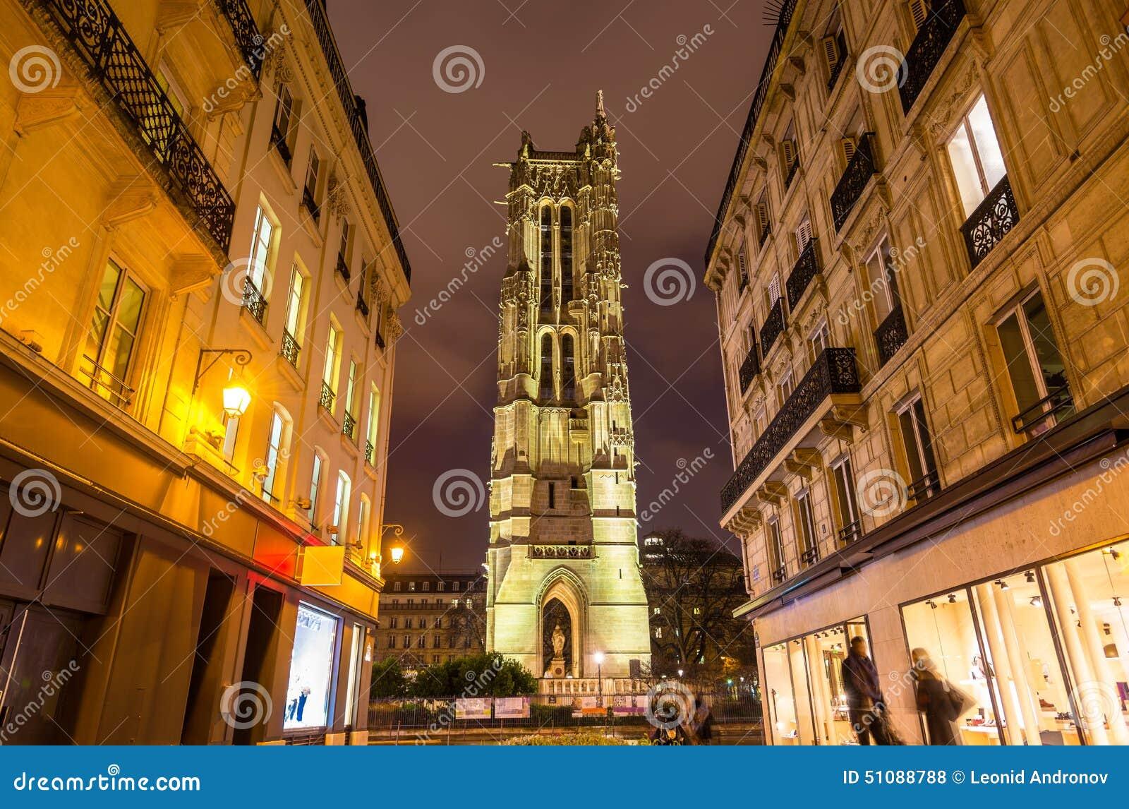 圣雅克塔在巴黎