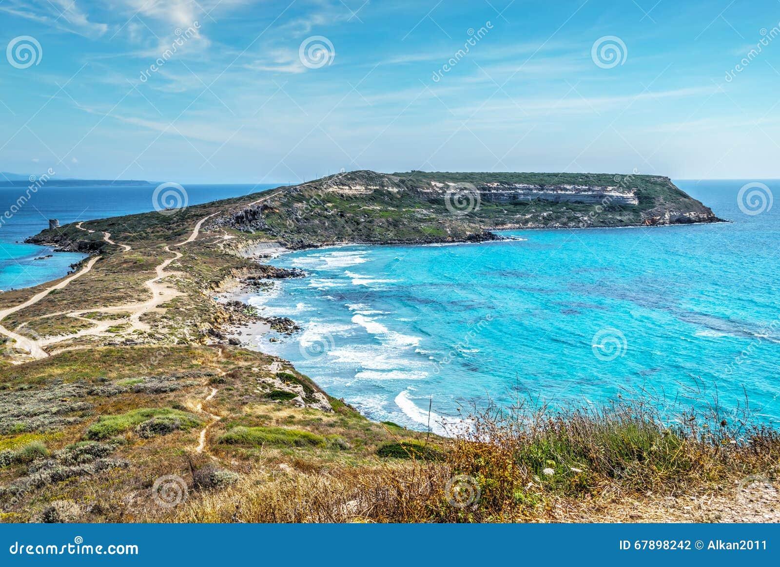 圣Marco海角在撒丁岛