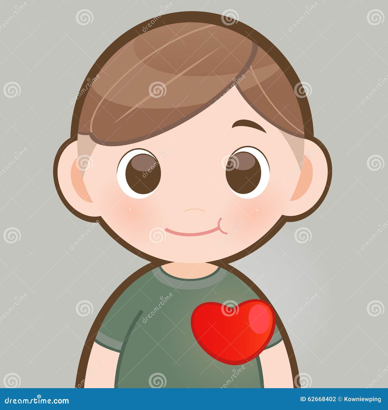 在一个人的胸口的红色心脏图片