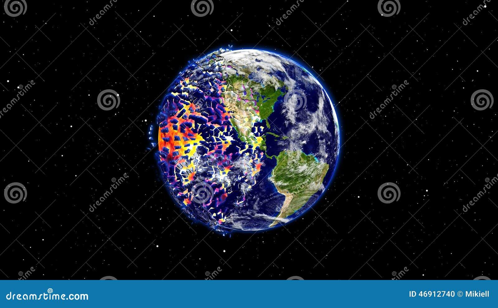 在一个全球性灾害,默示录小行星冲击地球以后接地燃烧或爆炸