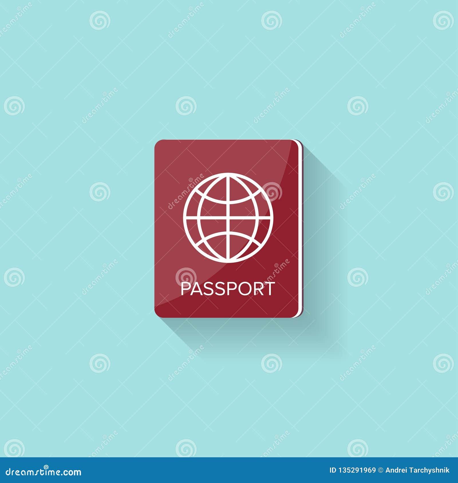 在一个平的样式的护照 旅行,移出 公民身份 乘客文件 也corel凹道例证向量