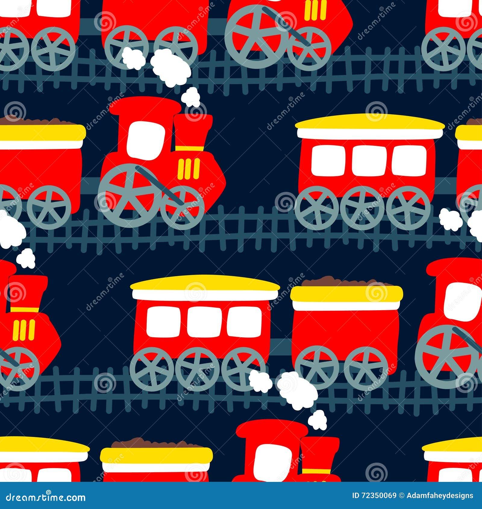 在一个无缝的样式的一点蒸汽火车