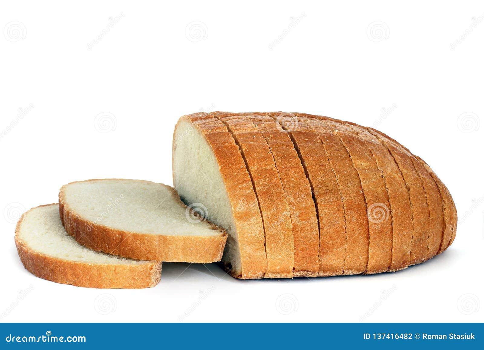 在一个空白背景的面包