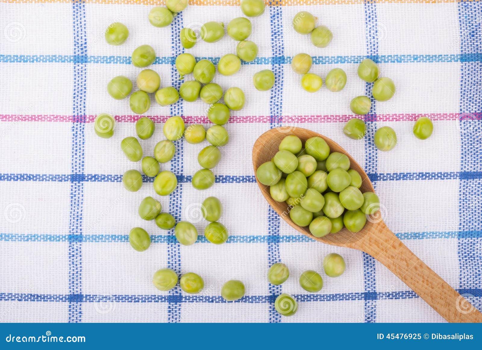 在一把木匙子的绿豆
