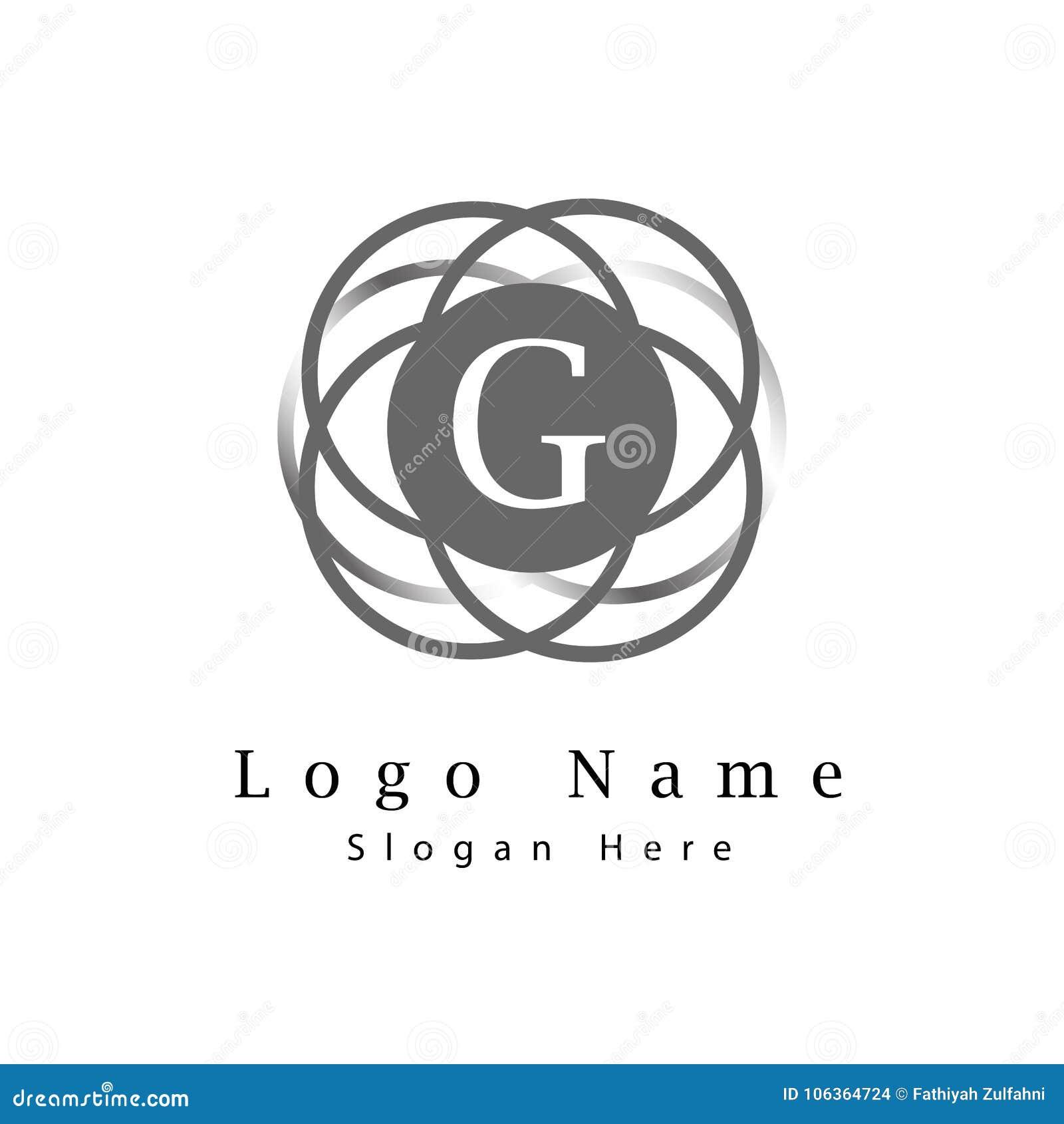 在与无限圈子背景第1部分的G商标上写字