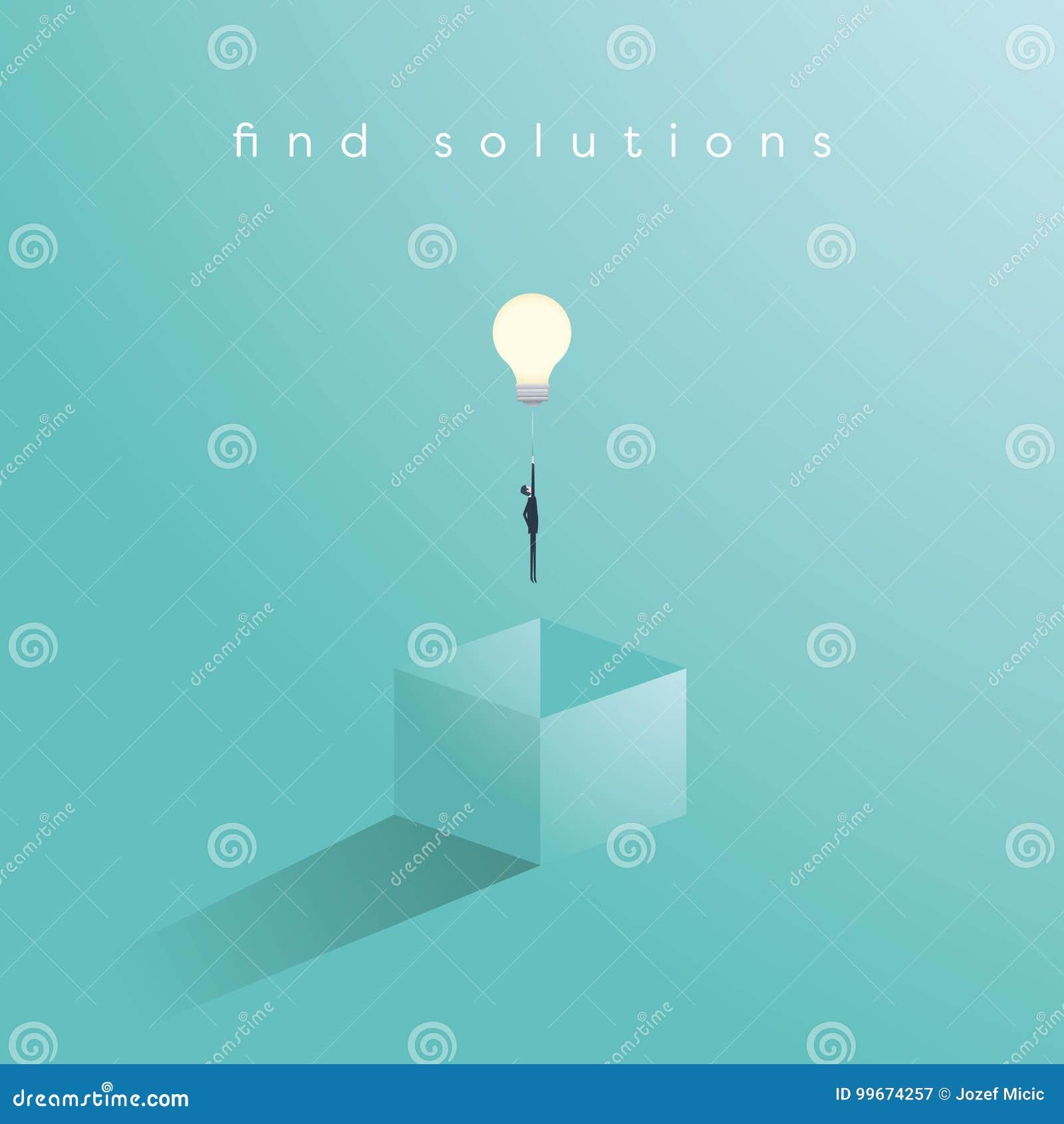 在与有的商人的箱子企业概念传染媒介之外认为解答的unieque创造性的想法 商人