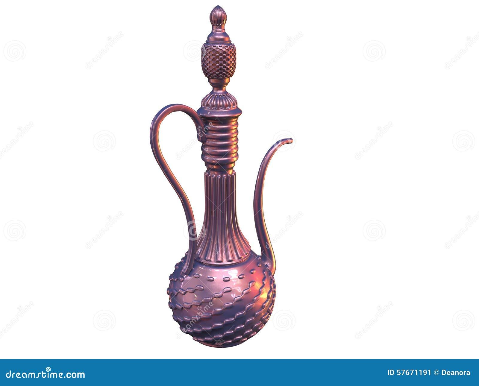 在东方样式的典雅的装饰瓶子