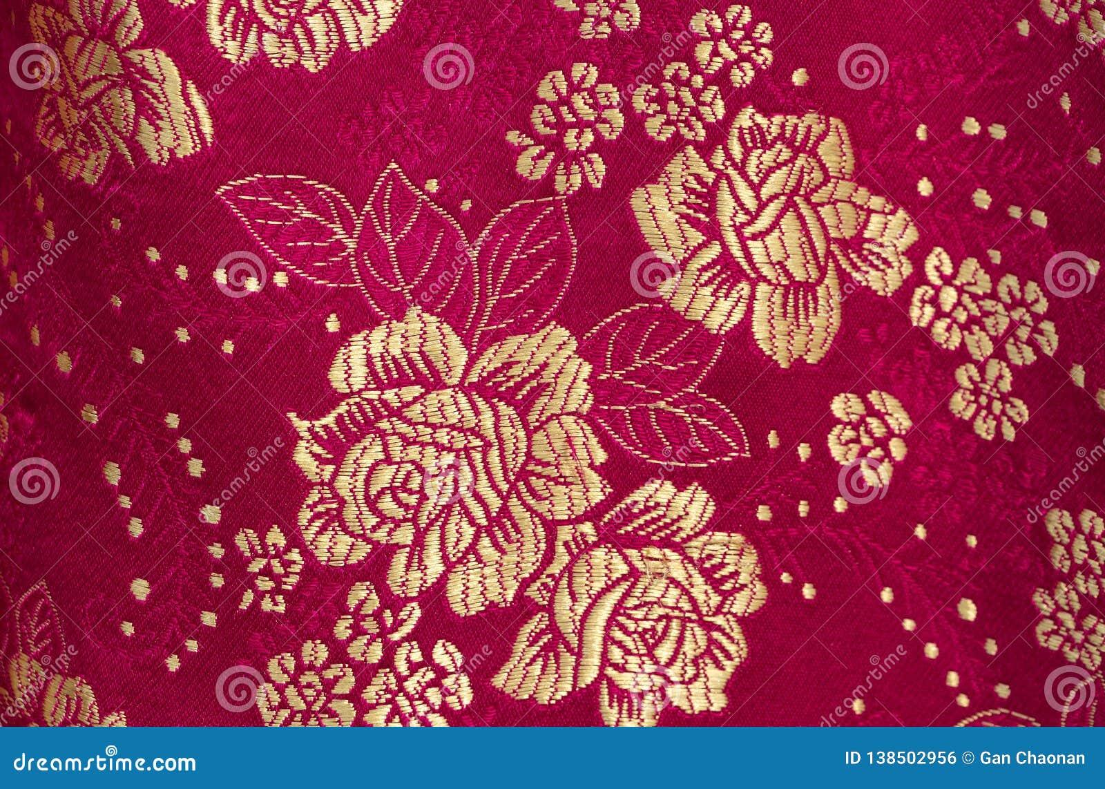 在中国刺绣样式的花卉样式 无缝背景的花