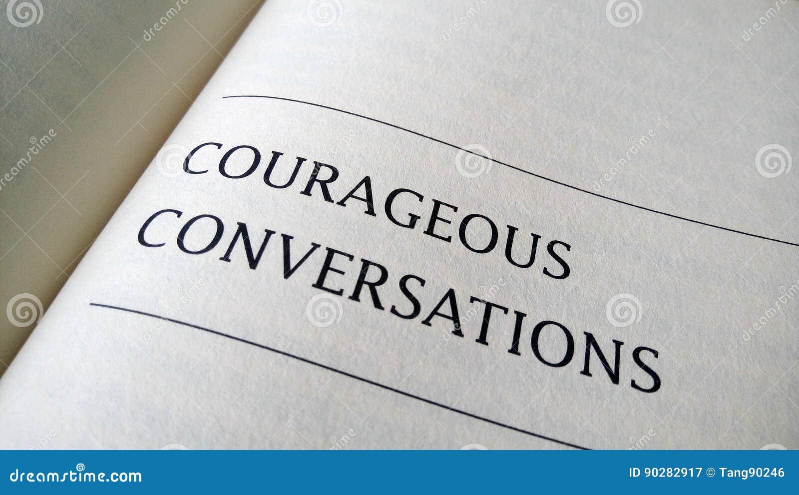 在书打印的勇敢的交谈