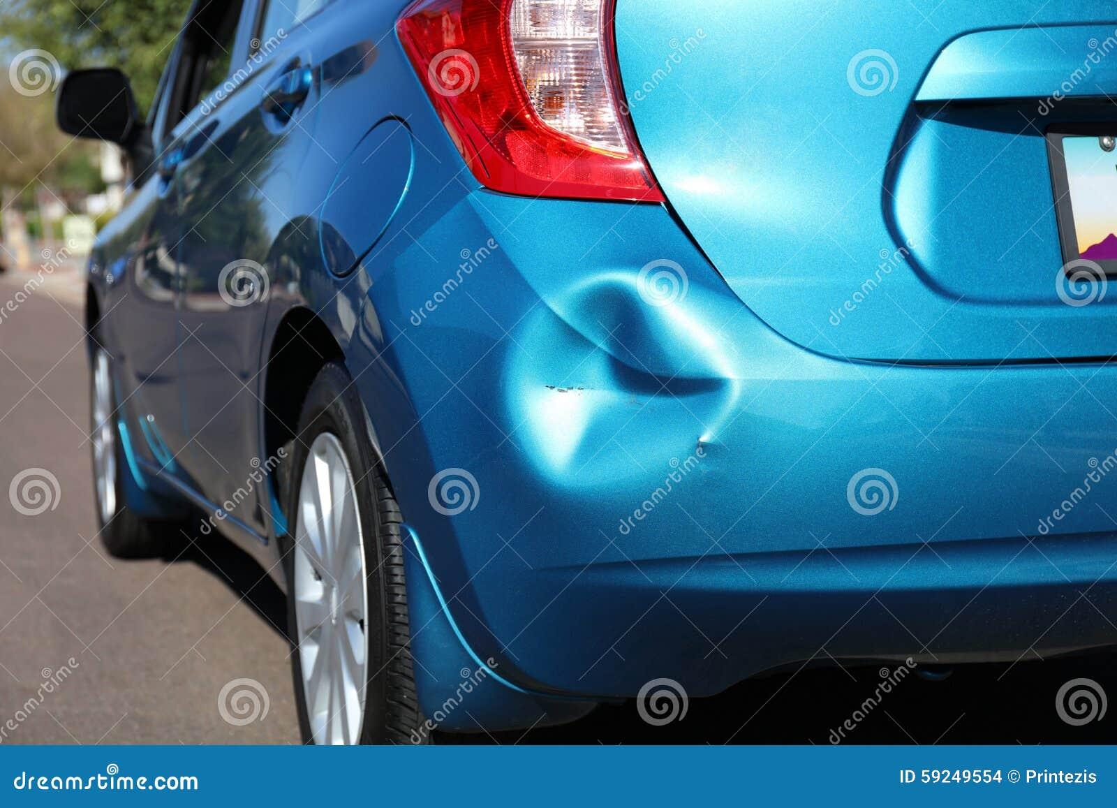 在事故以后的汽车