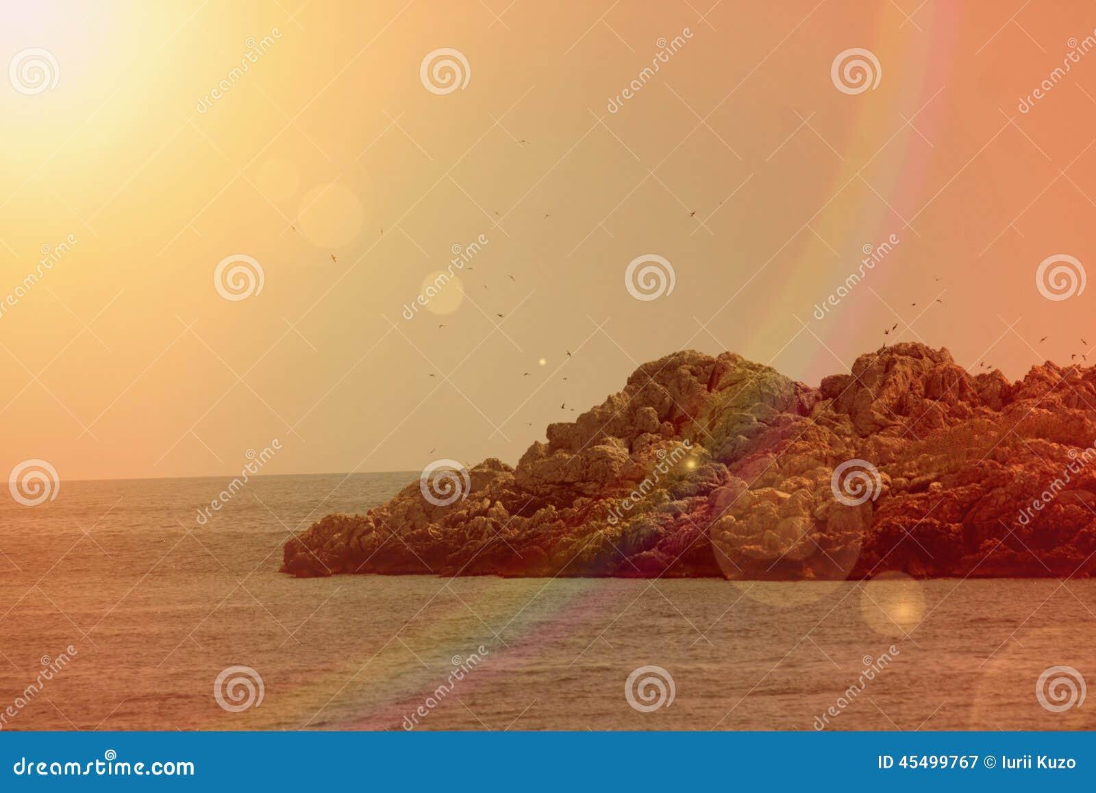 在亚得里亚海,黑山的手段海滩