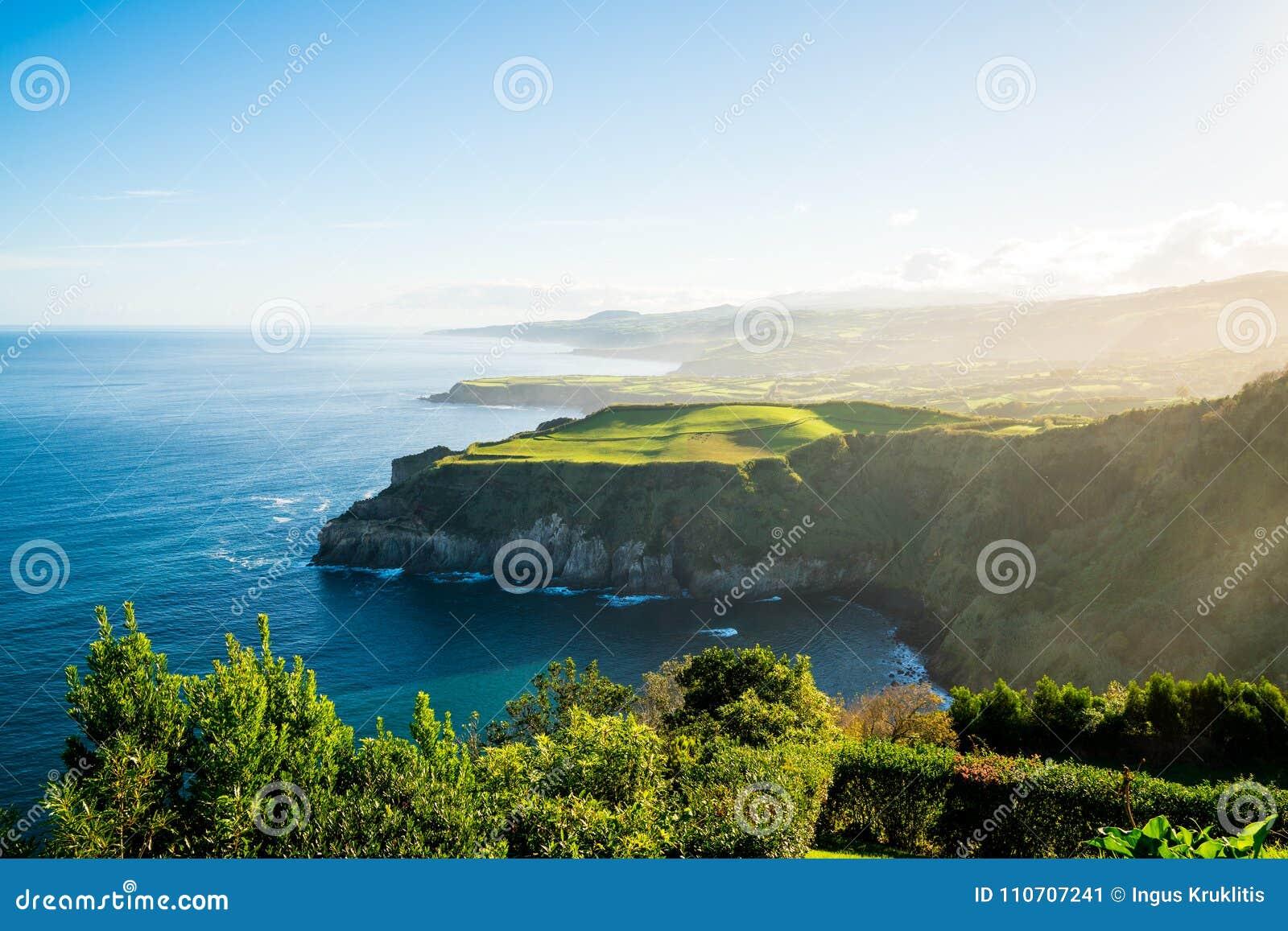 在亚速尔群岛的美好的自然视图