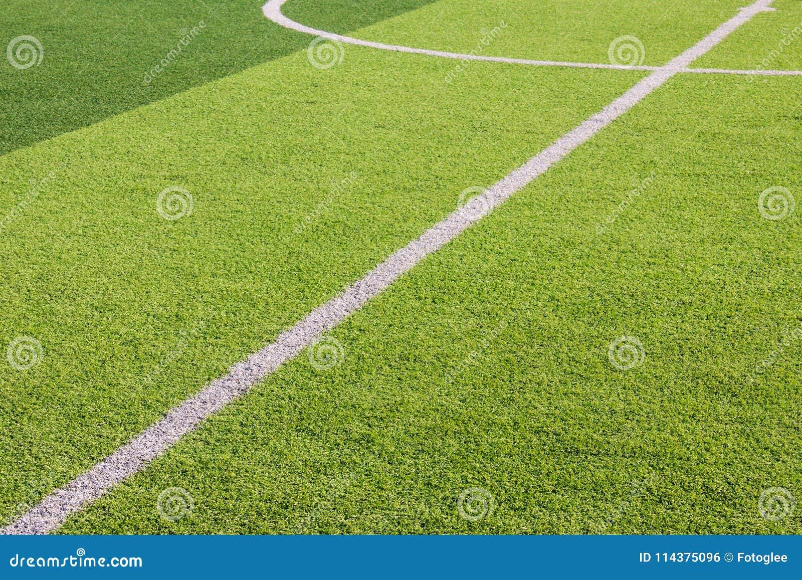 在人为绿草足球场的空白线路标号
