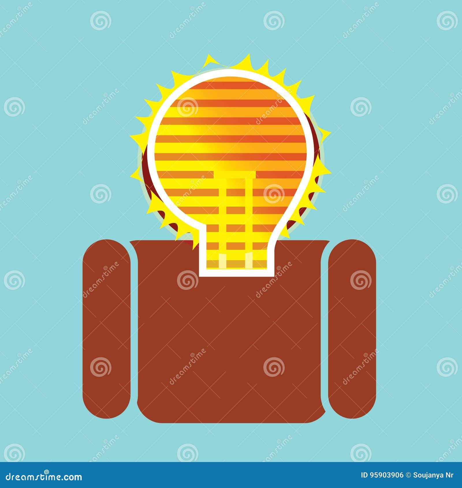 在人的有启发性想法电灯泡