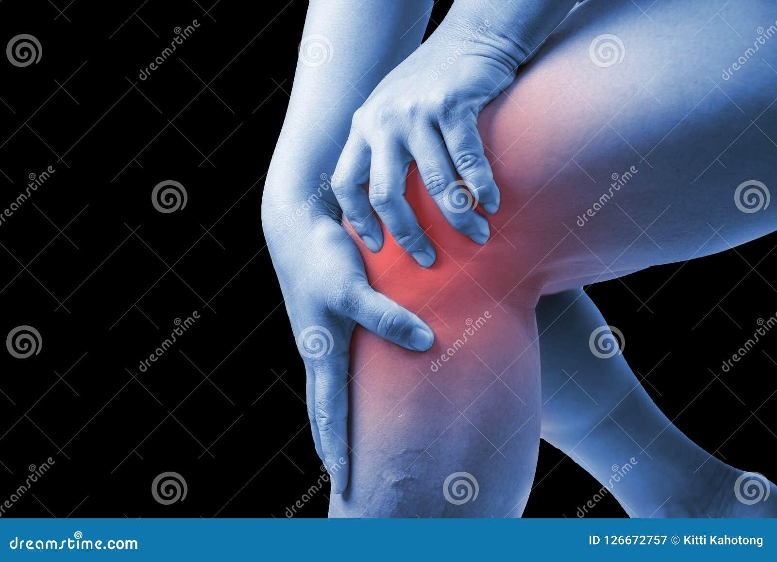 在人的膝伤 膝盖痛苦,医疗关节痛的人,星期一