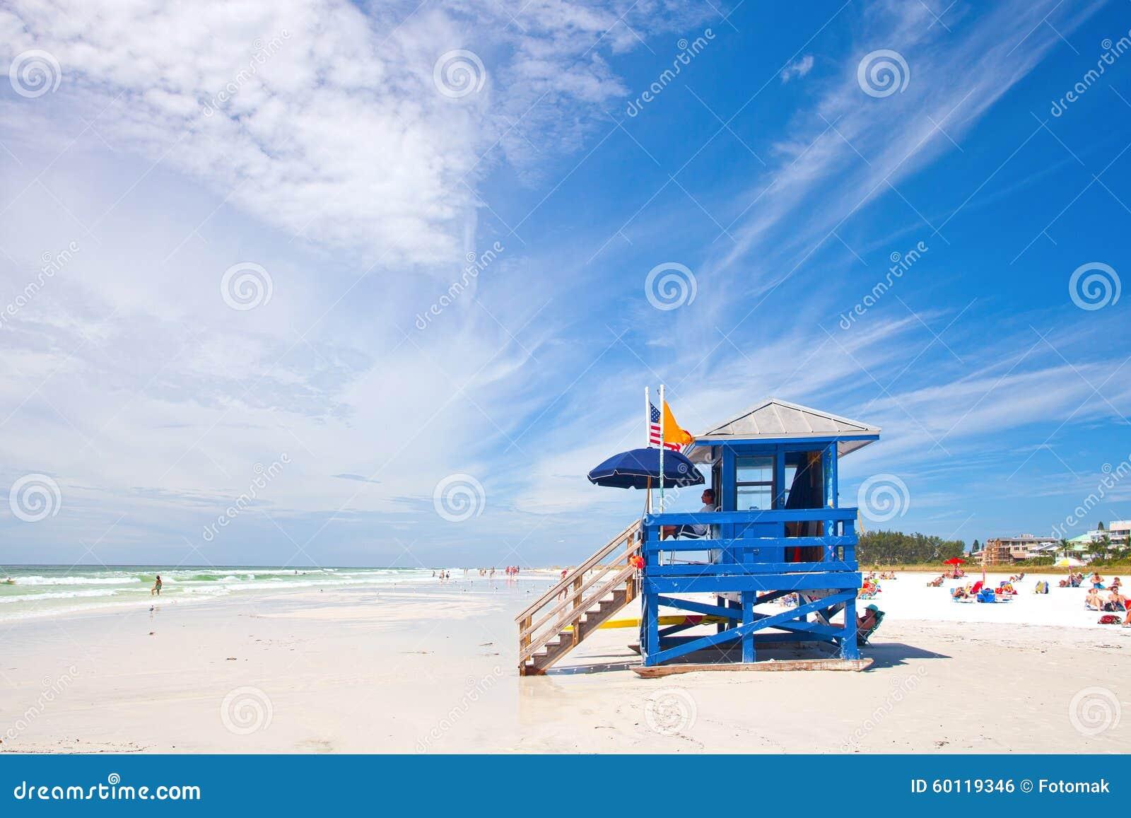 在佛罗里达西海岸的午睡关键海滩