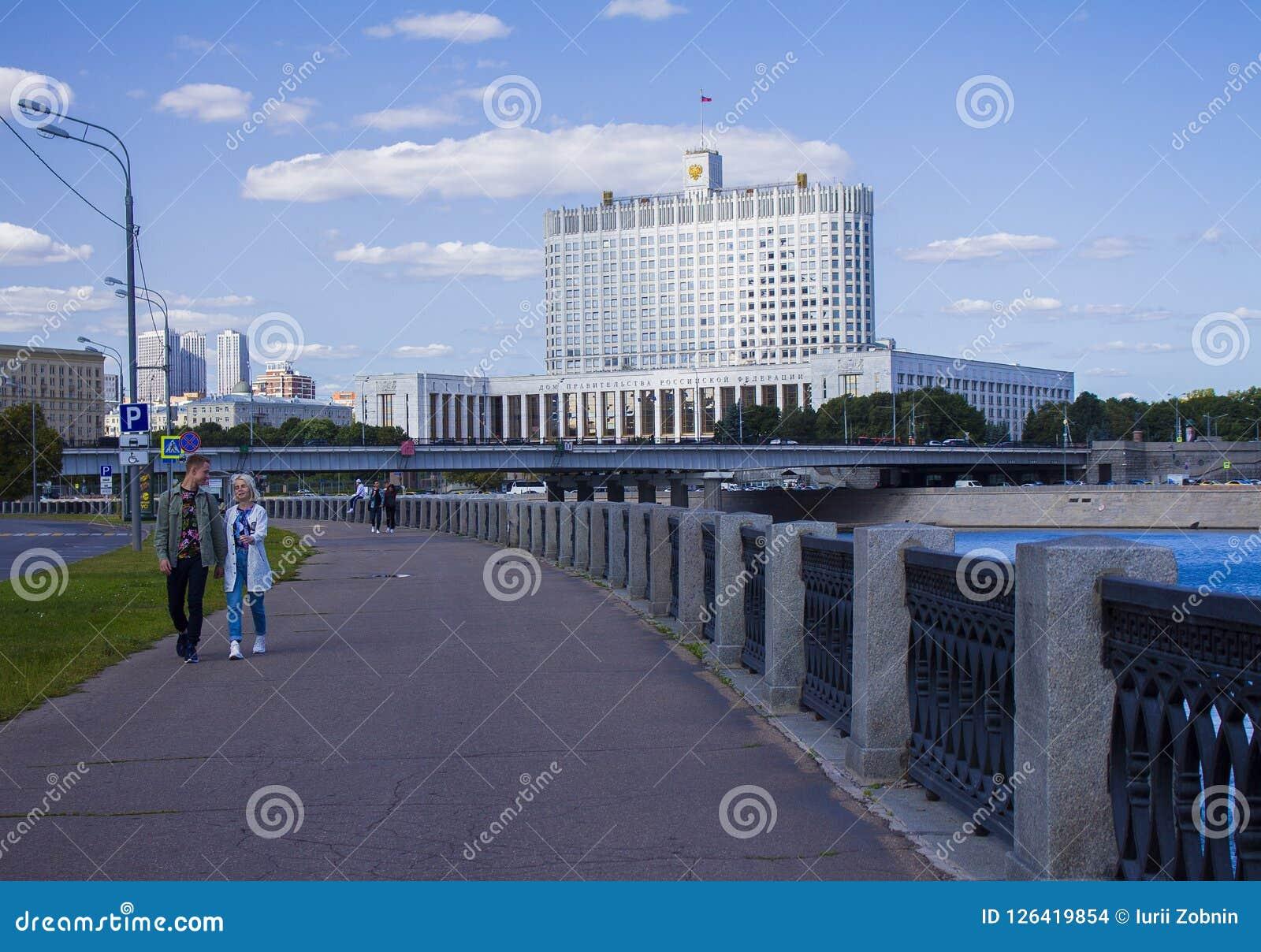 在俄国政府的大厦的看法