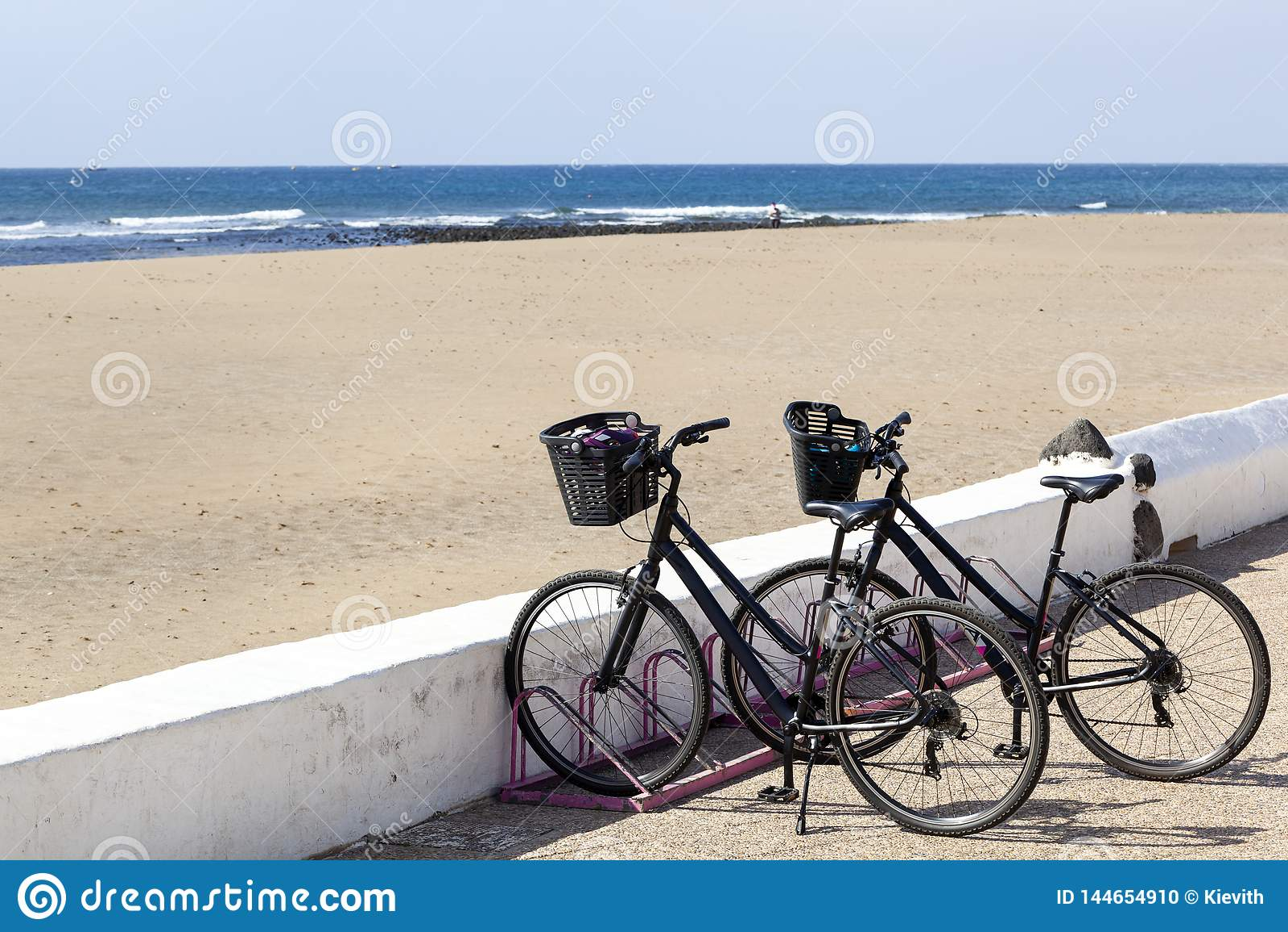 在兰萨罗特岛的出租自行车
