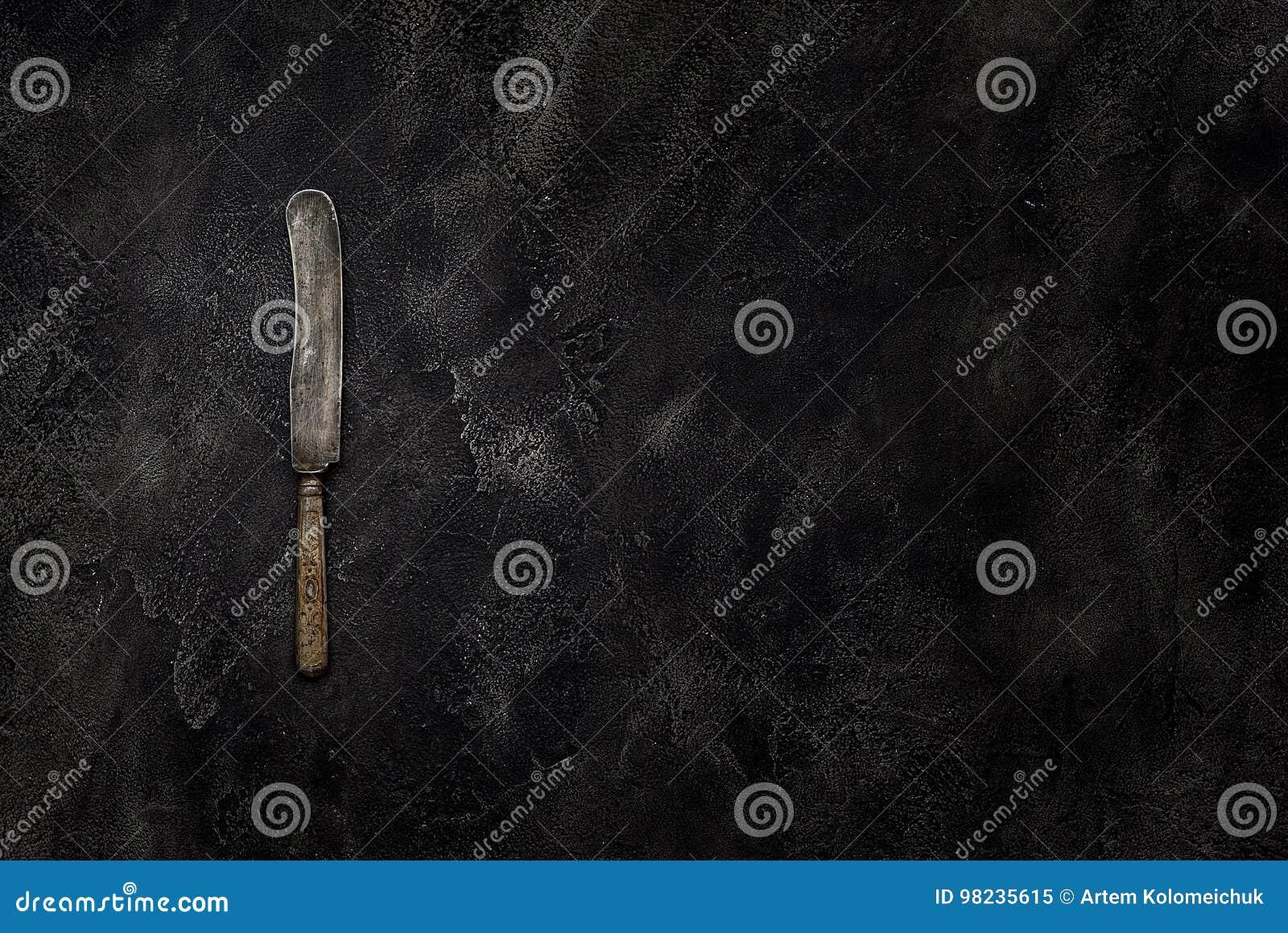 在具体顶视图的老农庄刀子