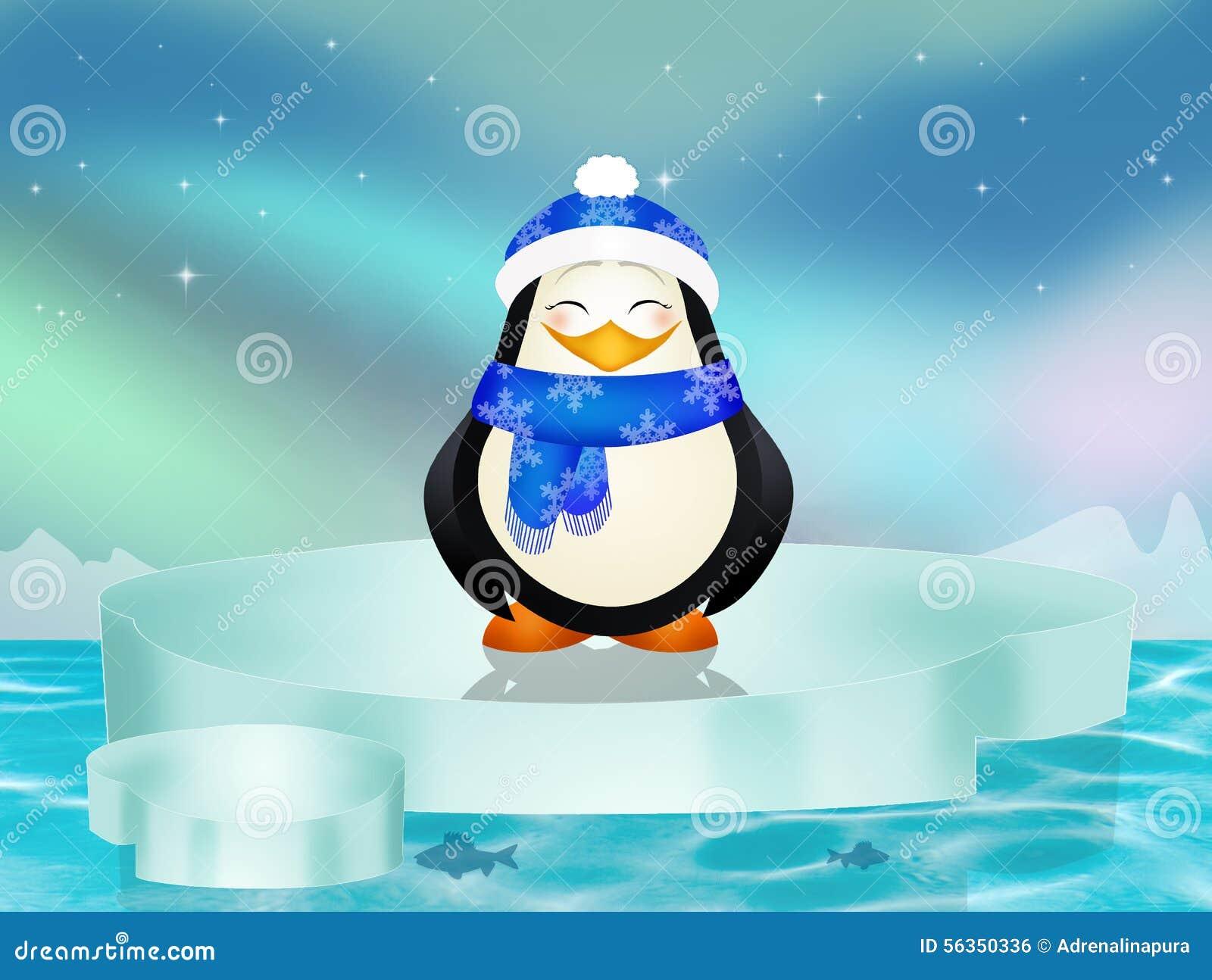 在冰山的企鹅