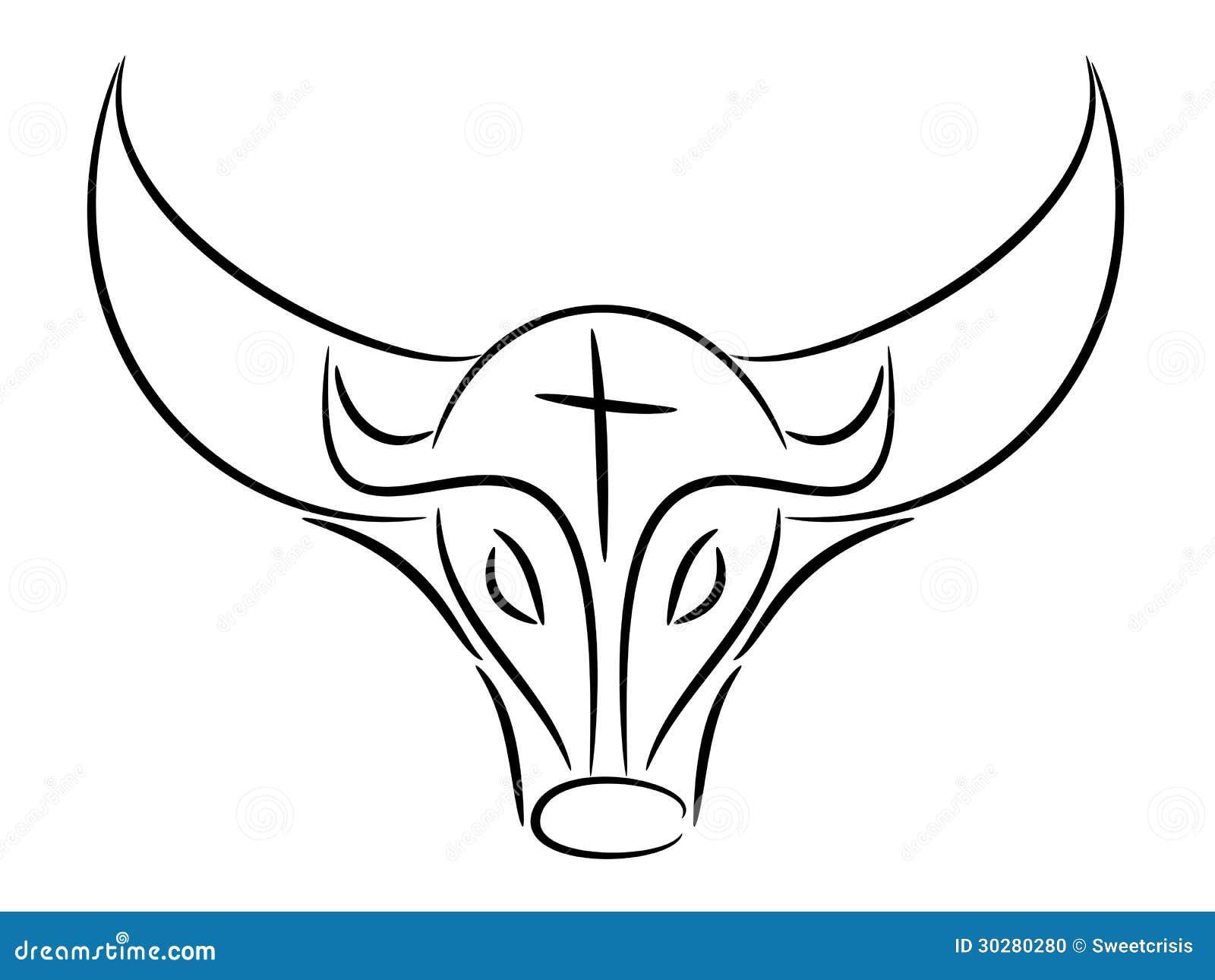 公牛凹道例证