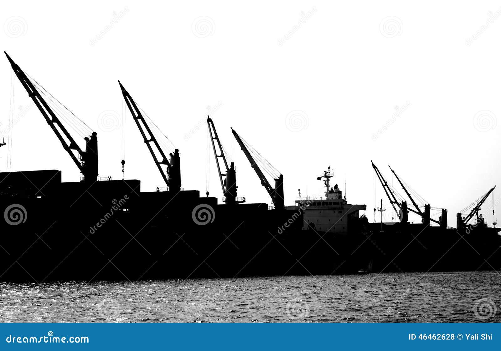 在网站的剪影起重机港口漂亮的v网站图片