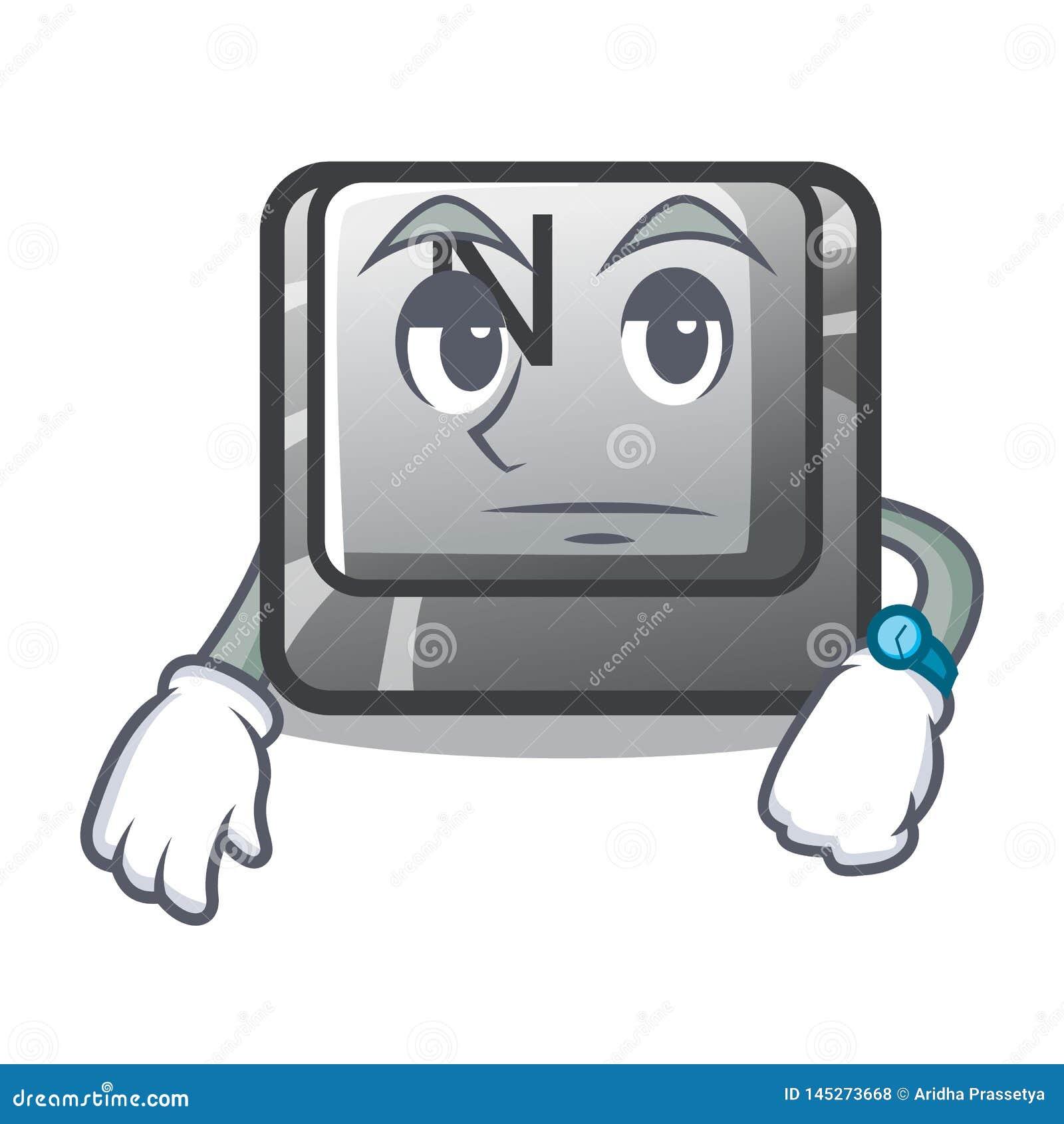 在动画片形状的等待的按钮N