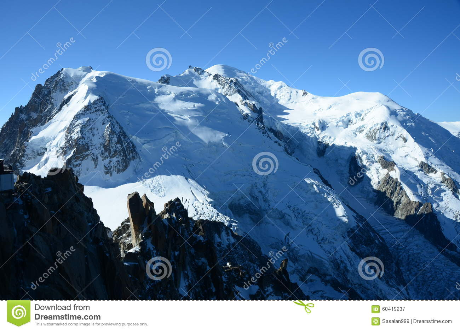 在勃朗峰的冰川