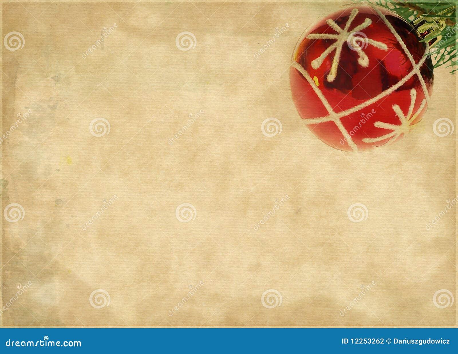 在包装纸的圣诞节球