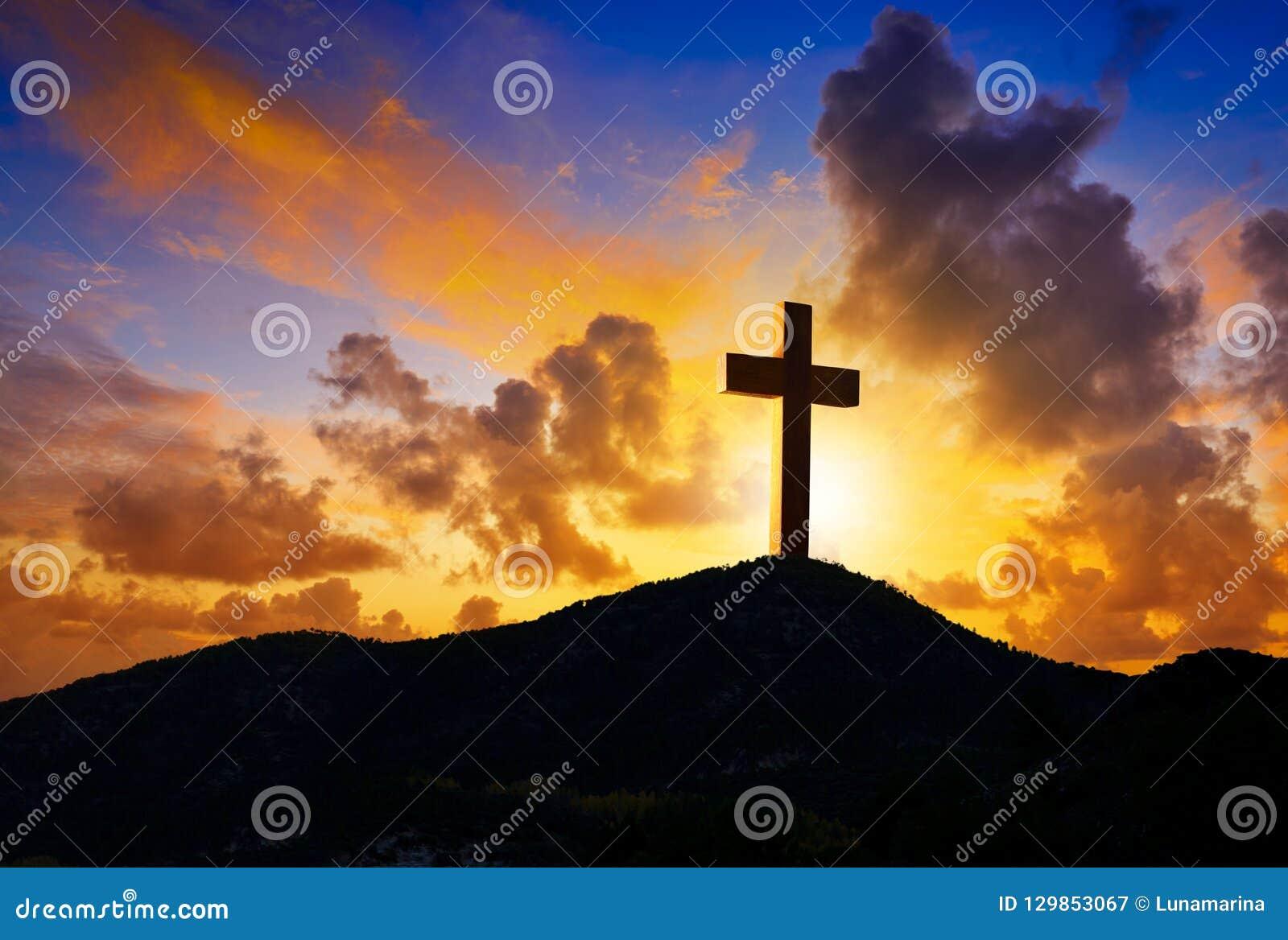 在十字架上钉死Golgotha的十字架标志