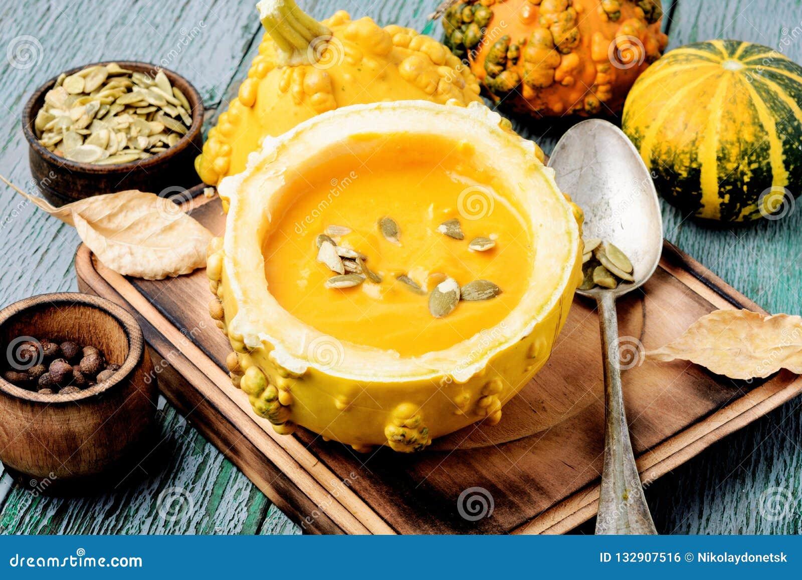 在南瓜的南瓜奶油色汤